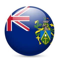 A badge in colours of pitcairn islands flag vector image