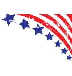 American flag elements vector