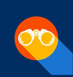 binocular sign white icon on vector image