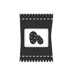 black icon on white background potato seeds vector image vector image