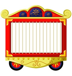 Circus style of animal cage vector image vector image