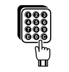 digital lock icon simple style vector image