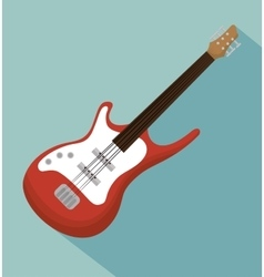 Electric guitar acoustic instrument icon vector