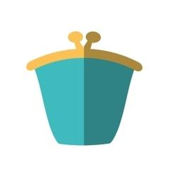 green purse wallet money saving flat icon vector image