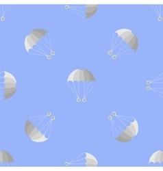 Parachute Seamless Pattern on Blue Sky vector image