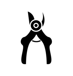 secateurs - pruners icon vector image