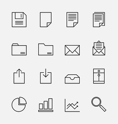 Set of business icons outline vector image vector image