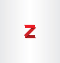 3d red logo letter z sign icon vector image vector image