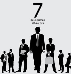 Businessman silhouettes vector