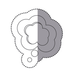 figure cloud chat bubble icon vector image