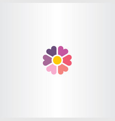 flower heart icon floral symbol vector image vector image