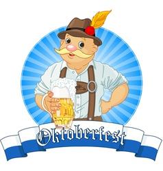 Oktoberfest Bavarian Oktoberfest Bavarian Label w vector image vector image