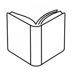 Open book linear vector image vector image