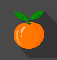 orange cartoon flat icondark background vector image vector image
