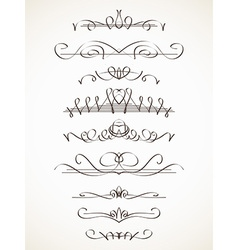 calligraphic line vector image vector image