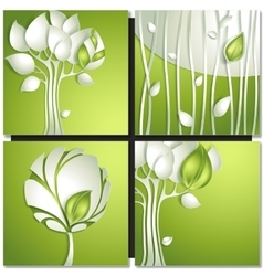 Eco green concept summer card vector image vector image