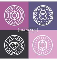 Jewelry signs and emblems vector
