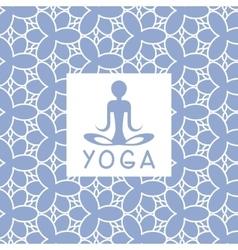 Abstact Person Blue Yoga Studio Design Card vector