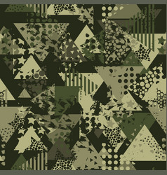 Abstract camouflage seamless pattern texture vector