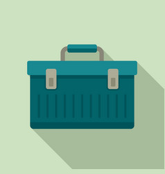 Aircraft repair tool box icon flat style vector