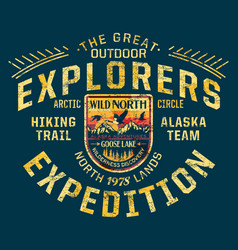 alaska wild north wilderness discovery expedition vector image