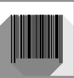 bar code sign black icon with two flat vector image