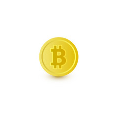 Bitcoin coin with btc symbol cryptocurrency icon vector