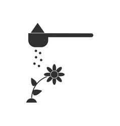Black icon on white background fertilizer and vector