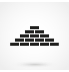 Bricks icon black on white background vector