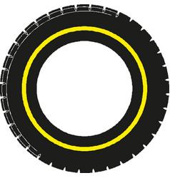 Car tire concept vector
