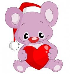 christmas koala vector image