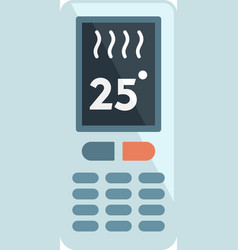 Climate remote control icon flat isolated vector