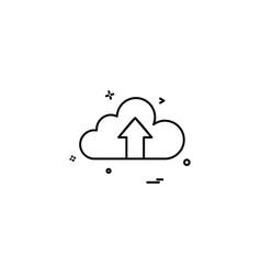 cloud arrow up icon vector image