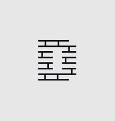 construction letter d vector image