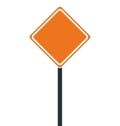 Construction road sign icon vector