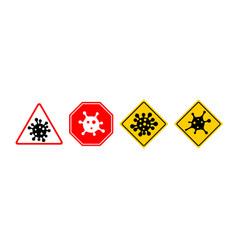 Coronavirus 2019-ncov corona virus icons warning vector