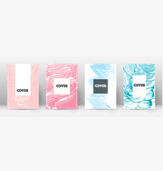 cover page design template hipster brochure vector image