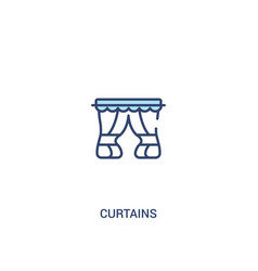Curtains concept 2 colored icon simple line vector