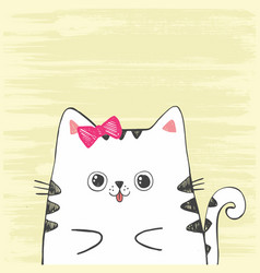 cute with sketch cat vector image
