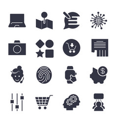 different simple icons for apps programs sites vector image