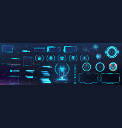 Digital set with hud elements vector