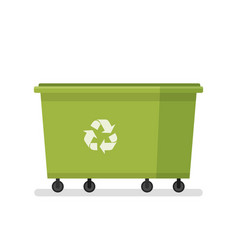Dumpster large garbage can utility services vector