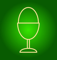 Easter egg on a stand icon vector