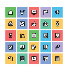 Education Square Icons 3 vector