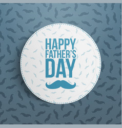 Fathers day realistic banner with greeting text vector