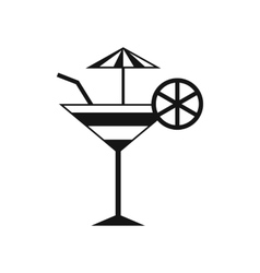 Fruit cocktail icon simple style vector image