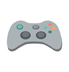 Gamepad in Flat Design vector image