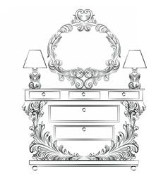 Glamorous Fabulous Baroque Rococo Console Table vector image