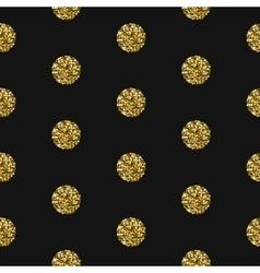 Gold foil shimmer glitter polkadot seamless vector