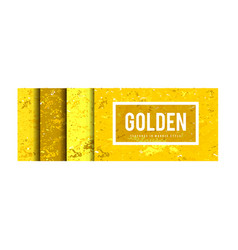 golden marble style background set vector image